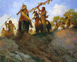 Howard Terpning - Sunset for the Comanche