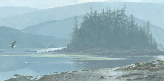 Robert Bateman - Along the Coast - Bald Eagle