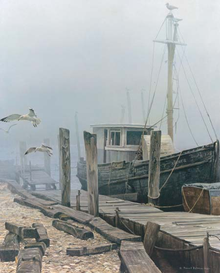 Robert Bateman - The Sarah E. with Gulls