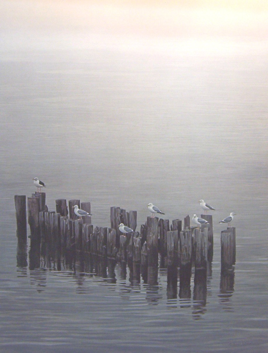 Robert Bateman - Gulls on Pilings