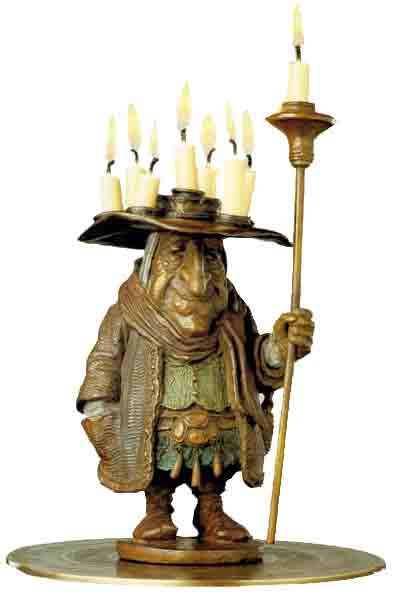 James Christensen - The Candleman - Bronze Sculpture