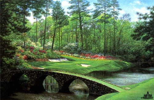 Larry Dyke - The 12th at Augusta