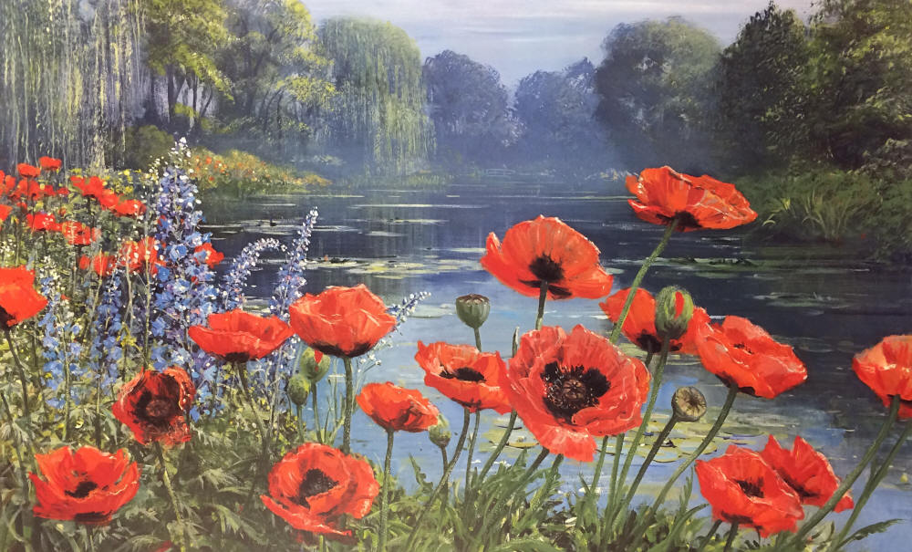 Peter Ellenshaw - Monet's Pond - Early Morning