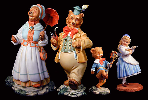 Scott Gustafson - Goldilocks and the Three Bears - Porcelain Figurine Set
