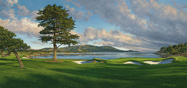 Linda Hartough - 18th Hole, Pebble Beach Golf Links