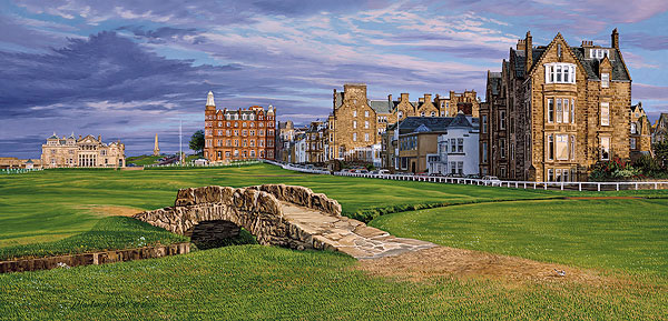 Linda Hartough - The Swilcan Bridge - The 18th Hole of the Old Course, St. Andrews Links