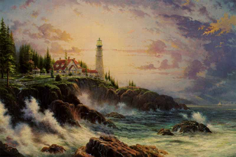 Thomas Kinkade - Clearing Storms (24 x 36 Canvas)
