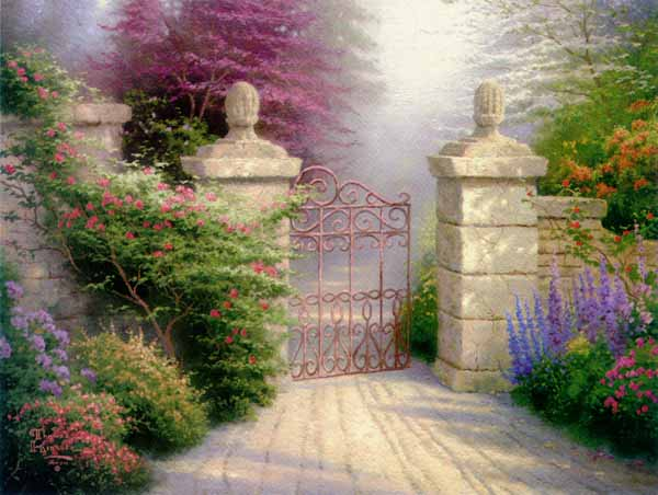 Thomas Kinkade - The Open Gate - Framed (12 x 16 Canvas)