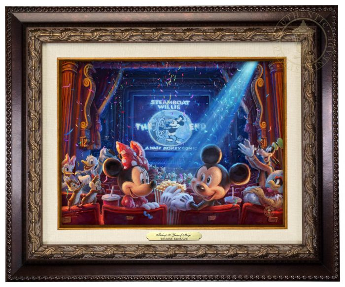 Thomas Kinkade - 90 Years of Mickey - Classic Edition (Image Size: 9 x 12)
