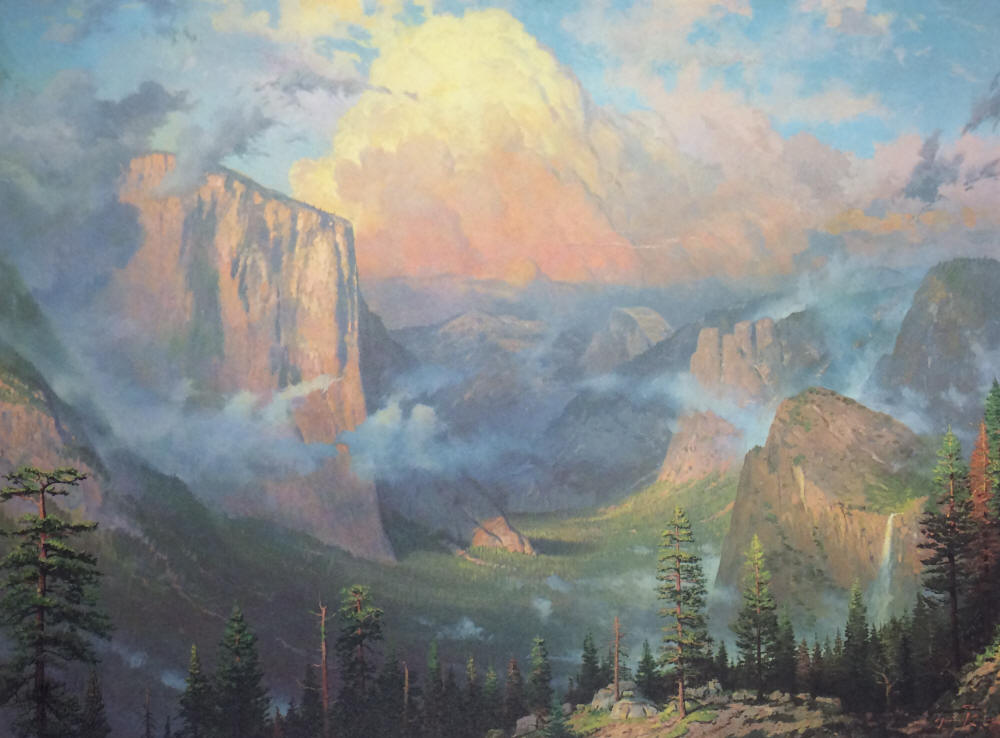 Thomas Kinkade - Artist's Point - Yosemite (1989 National Park Print)