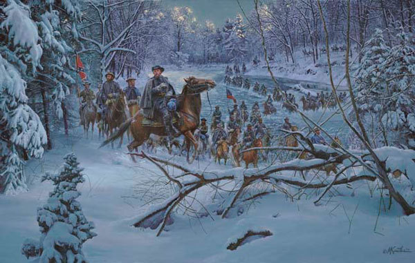 Mort Kunstler - Confederate Crossing