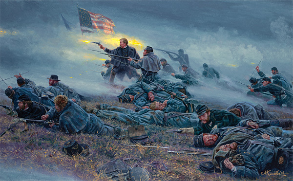 Mort Kunstler - Courage in Blue