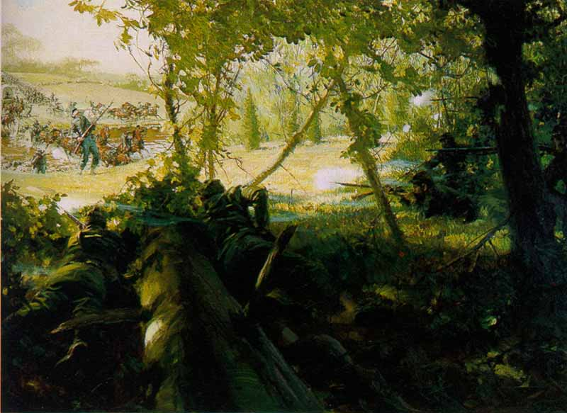 Tom Lovell - Berdan's Sharpshooters - 2nd Day at Gettysburg