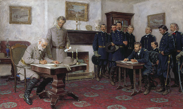 Tom Lovell - Surrender at Appomattox - Museum Edition