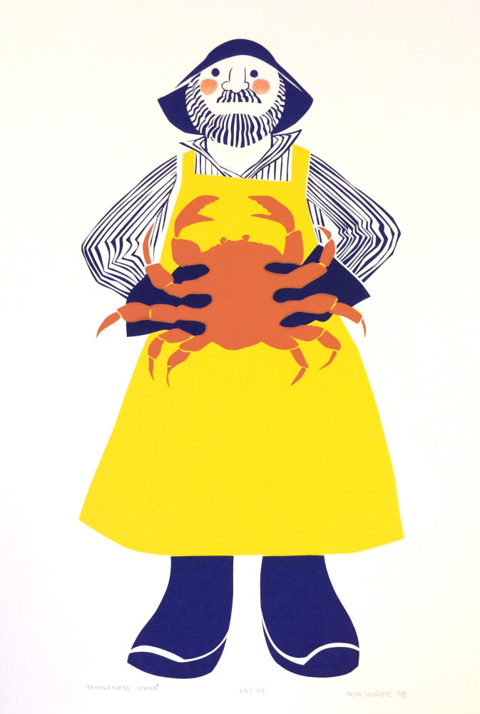Rie Munoz - Dungeness Crab