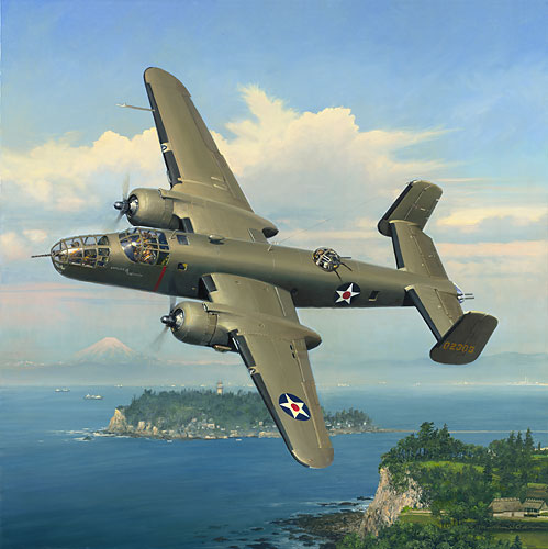 William Phillips - Evasive Action Over Sagami Bay (B-25)