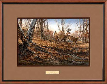 Terry Redlin - Autumn Run - Framed