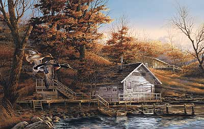 Terry Redlin - Autumn Shoreline