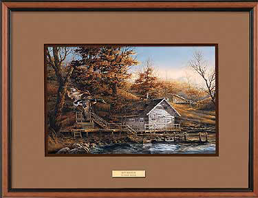 Terry Redlin - Autumn Shoreline - Framed