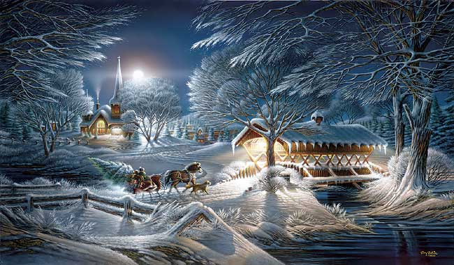 Terry Redlin Evening Frost Artusa Com Toll Free 1