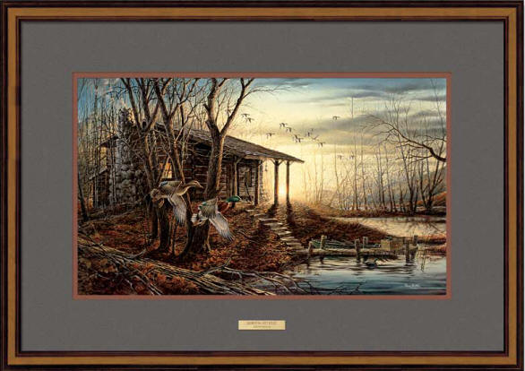 Terry Redlin - Morning Retreat - Framed