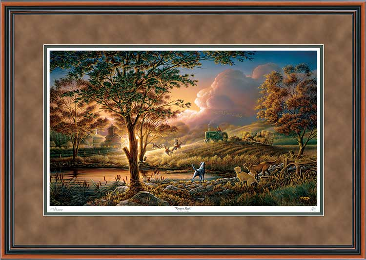 Terry Redlin - Always Alert - Framed