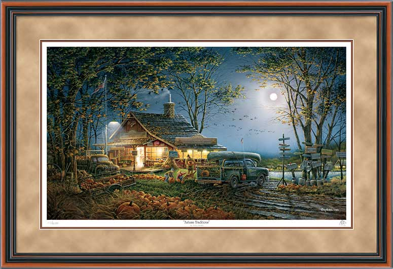 Terry Redlin - Autumn Traditions - Framed