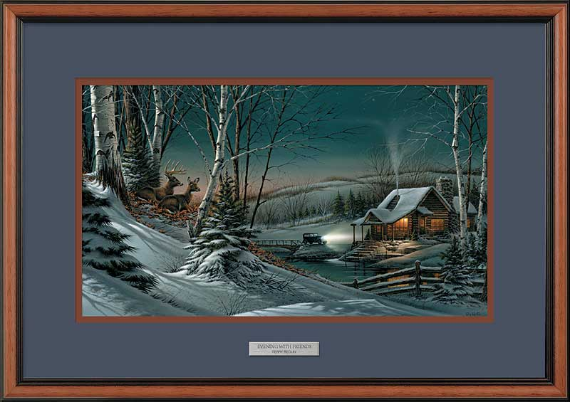 Terry Redlin - Evening with Friends - Framed