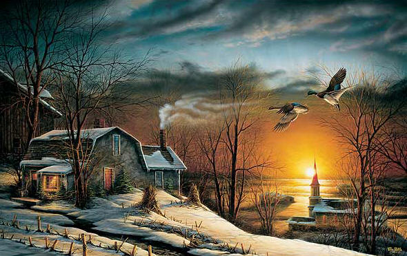 Terry Redlin - Sharing Season I (2013 Holiday Print)