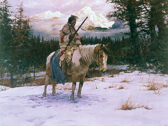 Howard Terpning - The Lonely Sentinel