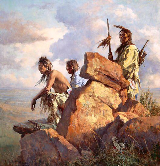 Howard Terpning - Among the Spirits of the Long-Ago People