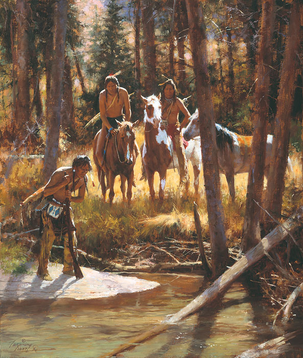 Howard Terpning - Bear Tracks