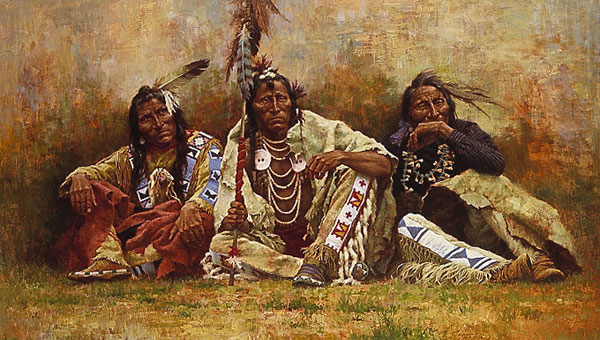 Howard Terpning - Blackfeet Spectators