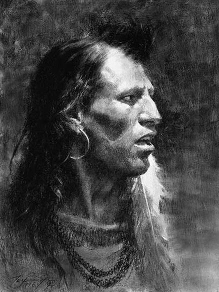 Howard Terpning - Crow - (Portraits of Our Native American History)