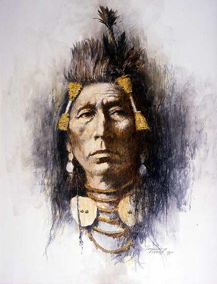 Howard Terpning - Crow Brave - (Portraits of Our Native American History)