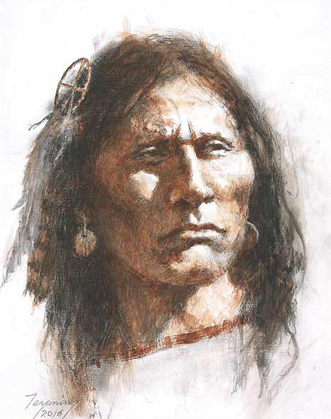 Howard Terpning - Medicine Wheel - (Portraits of Our Native American History)