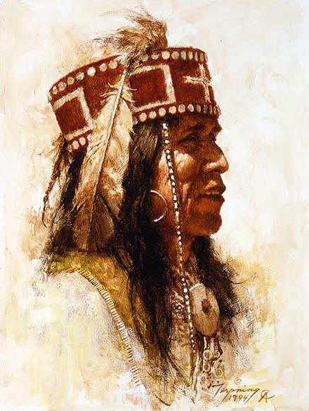 Howard Terpning - Mescalero Apache - (Portraits of Our Native American History)