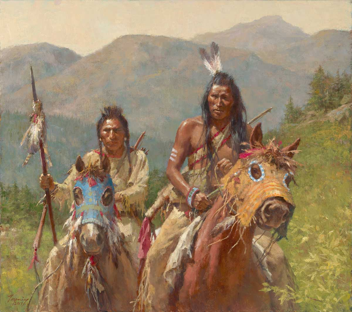 Howard Terpning - Mystery of the Crow Medicine Horse Masks