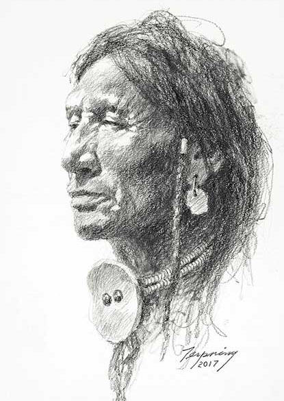 Howard Terpning - Northern Peigan - (Portraits of Our Native American History)
