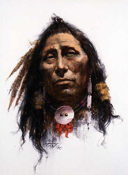 Howard Terpning - One Man's Dignity - (Portraits of Our Native American History)