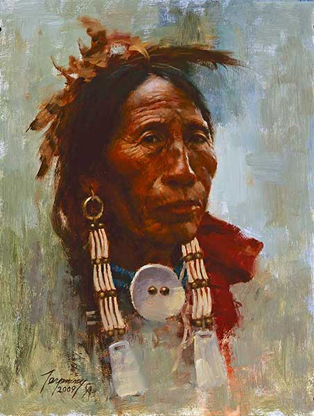 Howard Terpning - Sioux Elder - (Portraits of Our Native American History)