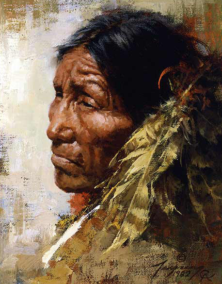 Howard Terpning - The Skeptic - (Portraits of Our Native American History)
