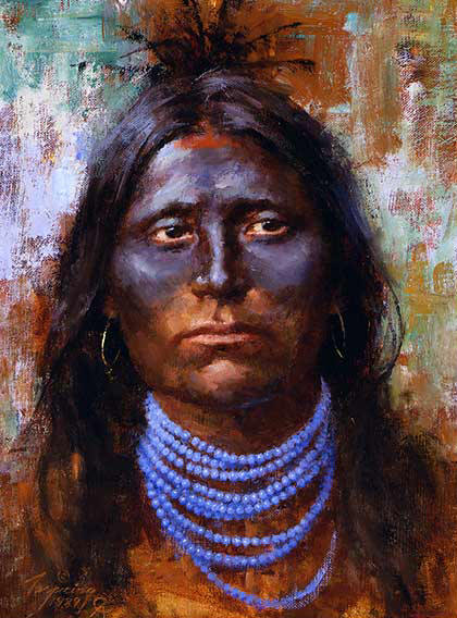 Howard Terpning - War Paint - (Portraits of Our Native American History)