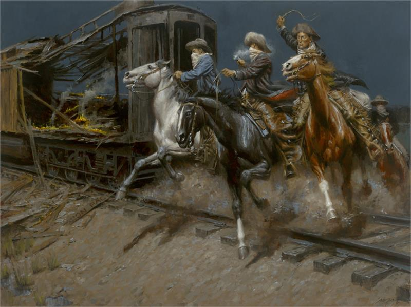 Andy Thomas - Sundance and the Wild Bunch Hit the Union Pacific