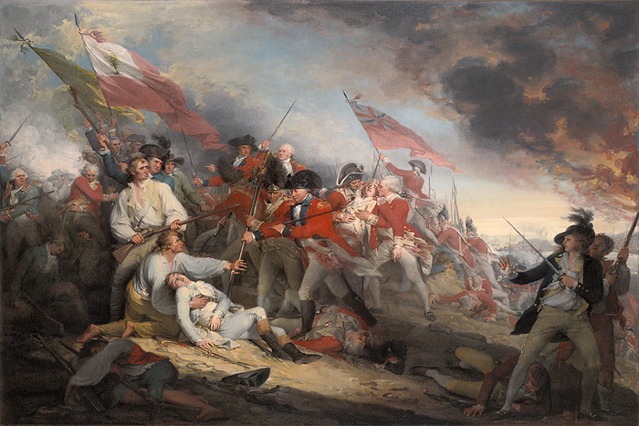 John Trumbull - The Battle of Bunker's Hill, June 17, 1775