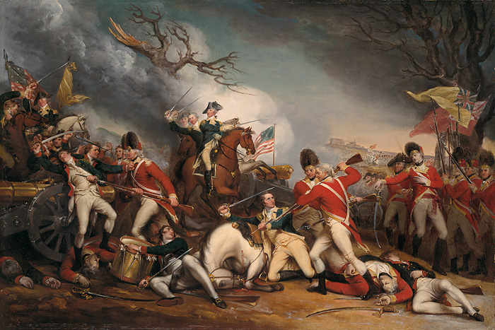 John Trumbull - The Death of General Mercer at the Battle of Princeton, January 3, 1777