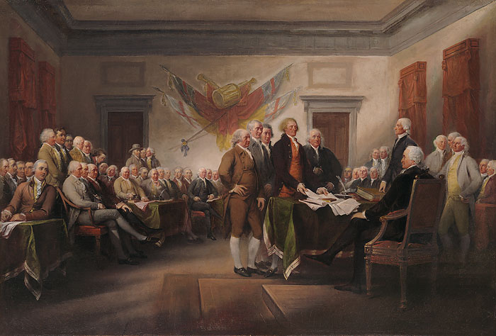John Trumbull - The Declaration of Independence, July 4th 1776