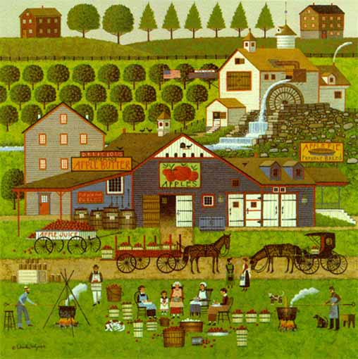 Charles Wysocki - Apple Butter Makers