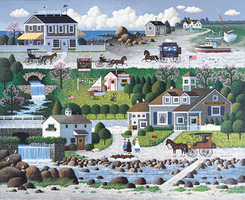 Charles Wysocki - Crickethawk Harbor