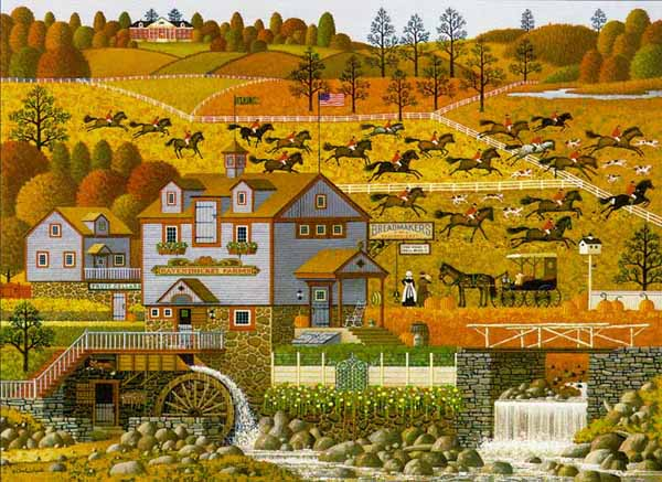 Charles Wysocki - The Foxy Fox Outfoxes the Fox Hunters